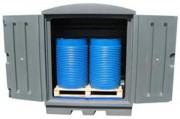 Armoire de stockage fûts en pehd - Charge admissible : 500 ou 2000 kg