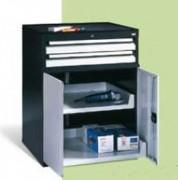 Armoire de stockage pour outils - 2 Tiroirs - Dimensions (L x P x H) mm : 805 x 724 x 1017