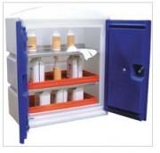 Armoire de stockage pour produits corrosifs - Construction en polyéthylène haute densité - Etagères en inox amovible