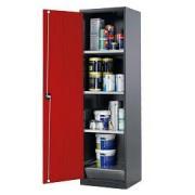 Armoire de sûreté porte pleine - Charge admissible par étagère : 50 kg - Volume de l'armoire : 552 L