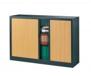 Armoire démontable à rideaux L 120 - Dimensions (L x H x P): 120 x 197 x 46 cm