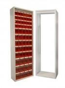 Armoire étroite pour bacs - Dimensions hors tout : 665x250x2000 mm