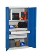 Armoire industrielle à portes battantes - Dim.(LxPxH): 1000x500x 1950 mm