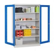 Armoire industrielle à portes transparentes - Dimensions (LxPxH): 1200x500x1950 mm