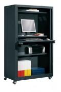 Armoire informatique à rideaux - Dimensions (L x H x P): 100 x 176 x 55 cm