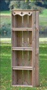 Armoire jardin en bois - Dimensions :  l60xP30xH182cm
