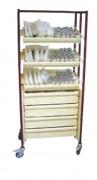 Armoire médicale à colonne - Encombrement : 168 X 70 X 50 cm