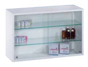 Armoire médicale à portes coulissantes vitrées - Dimensions (L x P x H) mm : 800 x 250 x 500