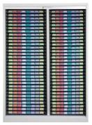 Armoire médicale double 600 x 400 - Capacité : 64 plateaux-plumiers