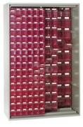 Armoire métallique porte-bacs - Dimensions ext : P 600 x L 1250 x H 1950 mm