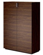 Armoire mi haute portes battantes - Dimensions globales (L x P x H) : 90 x 40 x 126 cm
