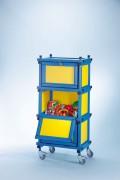 Armoire mobile pour piscine - Dimensions (L x l x h) : 75 x 50 x 160 cm