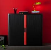 Armoire mobilier de bureau - Dim. extérieures (LxPxH) cm : 110x41,5x104 - Basse à rideau