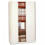 Armoire monobloc à rideaux H 198 cm Corps beige / Rideaux beige - Bisley