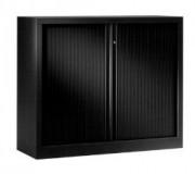 Armoire monobloc portes à rideaux H 100 cm - Dimensions en cm : 100x80 - 100x100 - 100x120