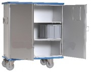 Armoire navette médicale - Dimensions : 1220 x 710 x 1455 et 1130 x 620 x 1050