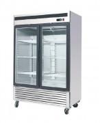 Armoire négative à double porte vitrée - Température : De - 22 / - 17 °C - Capacité : 1335 L