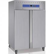 Armoire négative inox 2 portes 1200 ou 1400 litres - 1200 ou 1400 litres - de -20° à -15°C - 3 grilles GN 2/1 par porte