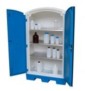 Armoire PEHD pour produits corrosifs - Dim. : 990x500x1660 mm - Charge par tablette : 55 kg