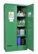 Armoire phytosanitaire en acier - Dimensions (hxlxp): (1 porte) 1950x500x500 mm et (2 portes)  1950x950x500 mm