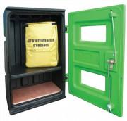 Armoire plastique premiers secours - Polyéthylène - Dimensions : L 57 x l 38 x H 85 cm