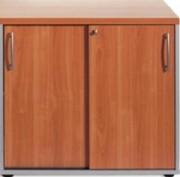 Armoire porte coulissante 113x120 - Dimensions (hxlxp) en cm : 74x80x43 - 74x120x43 - 113x120x43