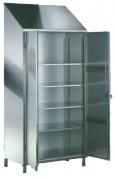 Armoire porte-objet en inox - Dimensions (L x P x H) mm : 950 x 500 x 2160