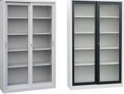 Armoire portes coulissantes métallique - Division centrale sur modèles de 160 cm de largeur