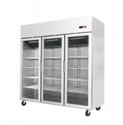 Armoire positive à 3 portes vitrées - Température de + 2 / 8 °C - Capacité (L) : 1390