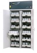 Armoire pour acide et base 12 étagères - Dimensions l x P x H extérieures :  1197 x 615 x 2300 mm