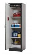 Armoire pour produits inflammables sécurité 30 minutes L 56 cm - L56cm / 1 portes /  3 étagères +bac rétention sol+ plinthe ajustable