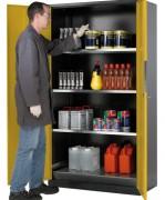 Armoire produits dangereux 2 portes - Volume de l'armoire : 1065 litres - Volume du bac : 33 litres