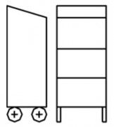 Armoire pupitre mobile 2 portes - Dimensions (L x P x H) mm : 500 x 400 x 1170