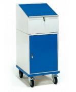 Armoire pupitre roulant avec écritoire - Charge (kg) : 150 - Norme EN 1757-3