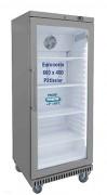 Armoire réfrigérée en inox porte vitrée - Froid positif +2°+8°C - Capacité : 520 litres