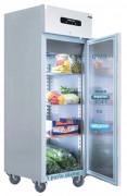 Armoire réfrigérée porte pleine froid négatif - 700 litres - 3 grilles GN 2/1 par porte    -10 - 22°C
