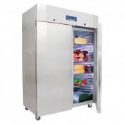 Armoire réfrigérée porte pleine froid positif - Capacité : 1410 Litres - Froid positif : - 2°+ 8°C - 2 portes