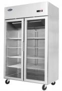 Armoire réfrigérée positive vitrée 2 portes - Capacité : 900 L - Dégivrage : Automatique