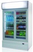Armoire réfrigérée pour boissons 1000 L - 1000 litres - 320 W - 2 portes vitrées coulissantes