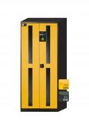 Armoire sécurité à portes vitrées pour produits chimiques L81 cm - L 81 cm - 3 étagère, 1 bac de rétention au sol