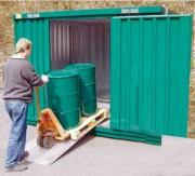 Armoire stockage à bac de rétention - Hauteur extérieur 2300 mm - Hauteur intérieur 2000 mm