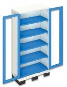 Armoire sur base de levage portes plexiglas - Armoire portes Plexiglas sur socle