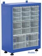 Armoire tiroirs plastique petit format - Largeur : 400 – 760mm / Hauteur : 500 – 660mm