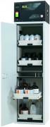 Armoire ventilée pour acide et base - Dimensions l x P x H extérieures : 600 x 615 x 2300 mm