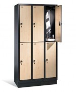 Armoire vestiaire 1800 ou 1850 mm - Dimensions utiles par casier (H x L x P) : 813 x 230/330 x 465 mm