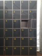 Armoire vestiaire 24 casiers - Dimensions (Larg x Prof x Ht) : 120 x 40 x 200 cm