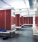Armoire vestiaire banc intégré - Armoire vestiaire avec caches miroirs
