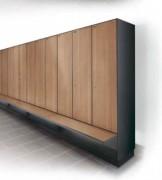 Armoire vestiaire bancs intégrés - Les solutions de bancs intégrées