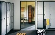 Armoire vestiaire double façade - Vestiaires ouvertes, angles à 90°