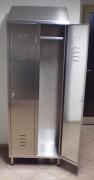 Armoire vestiaire inox 2 portes - Dimensions (L x P x H) mm : 670 x 400 x 2000